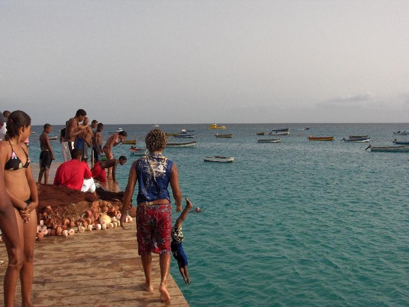 The pier, Cape Verde