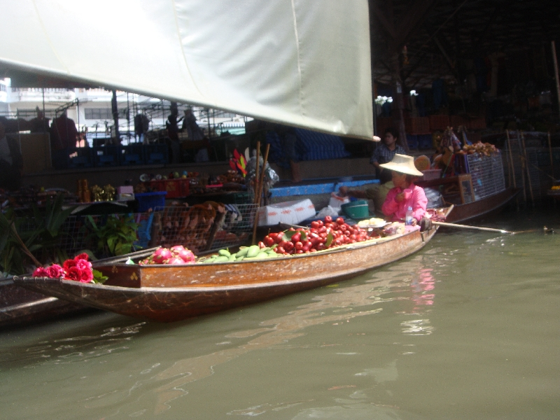 The Floating Market at Damnoen Saduak Thailand Review Photograph