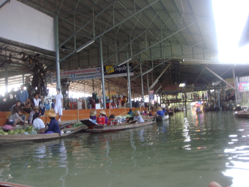 The Floating Market at Damnoen Saduak Thailand Holiday