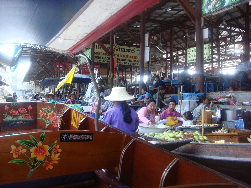 The Floating Market at Damnoen Saduak Thailand Blog Information