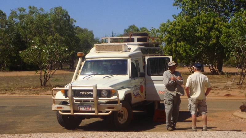 The tour jeep to Cape Leveque, Australia