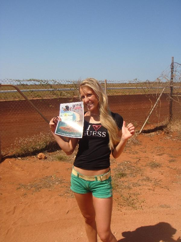 Skydive diploma!, Broome Australia