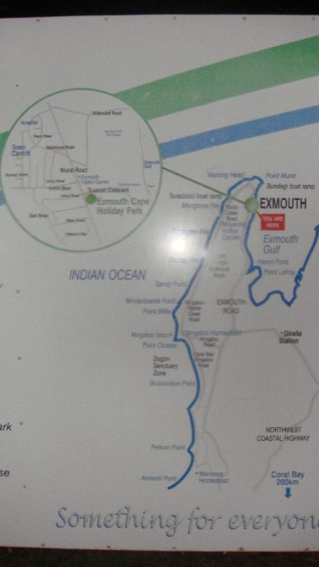 Handy map, Exmouth Australia