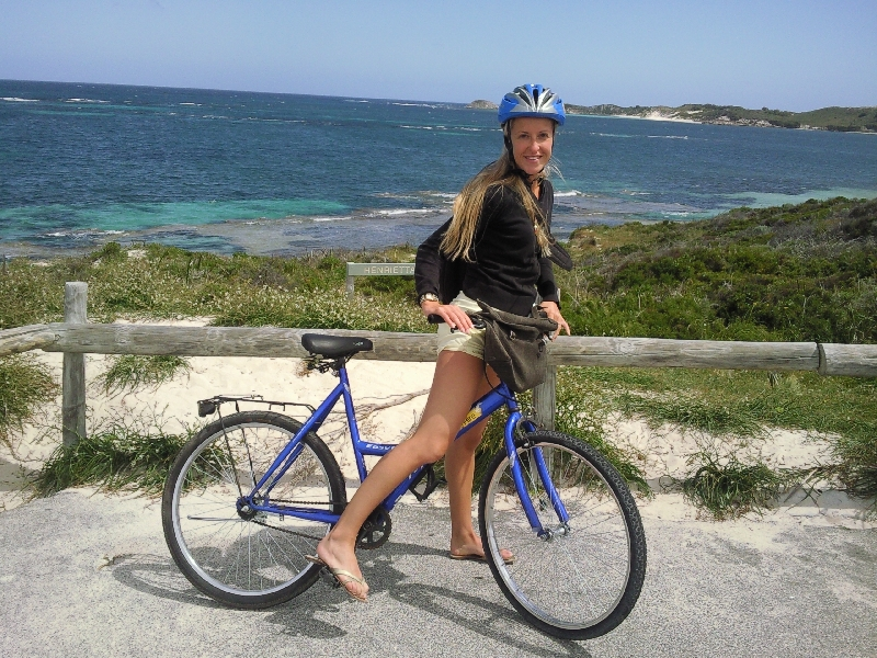 Biking around Rottnest Island, Australia