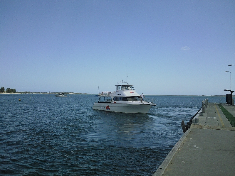 The boat on the Rockingham jetty Rockingham Australia Oceania