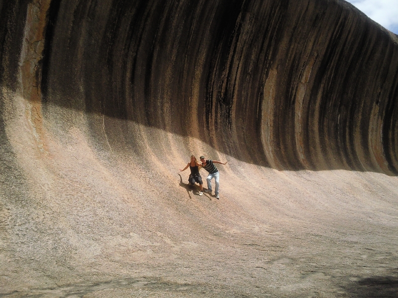 Together in the waves, Wave Rock Australia
