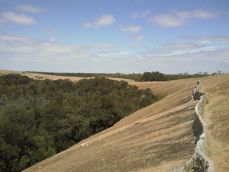 On top of Wave Rock, Wave Rock Australia