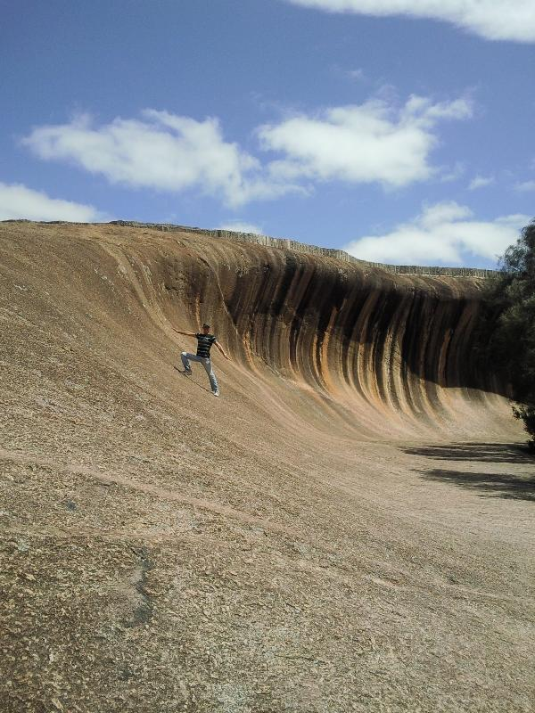 Surfing the wave, Wave Rock Australia