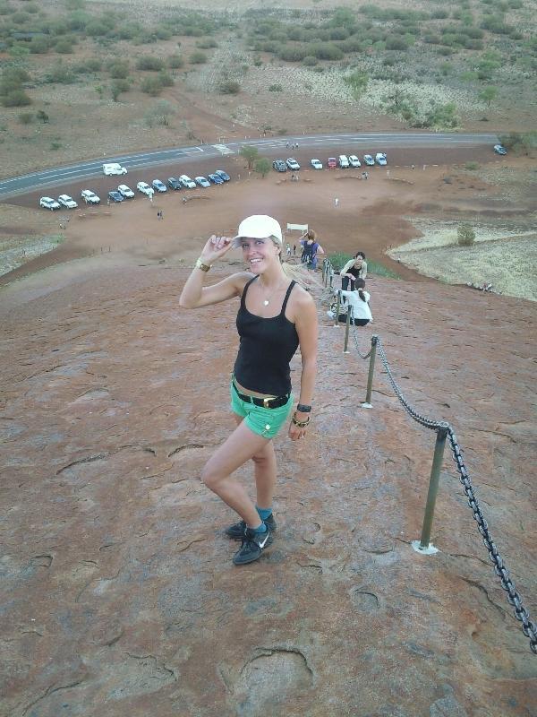 Climbing Ayers Rock, Australia