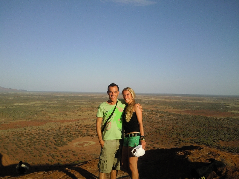 On top of Uluru, Australia