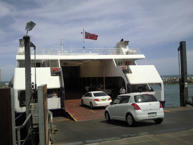Ferry boarding , Kangaroo Island Australia