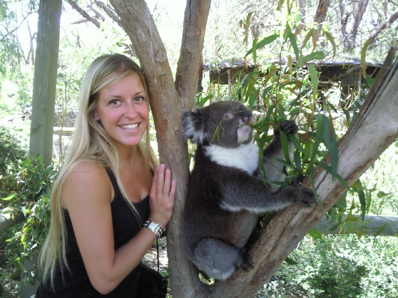Photo with koala, Australia