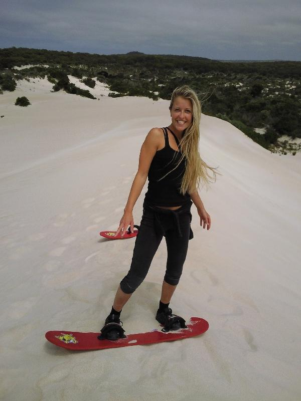 Sandboarding on KI, Australia