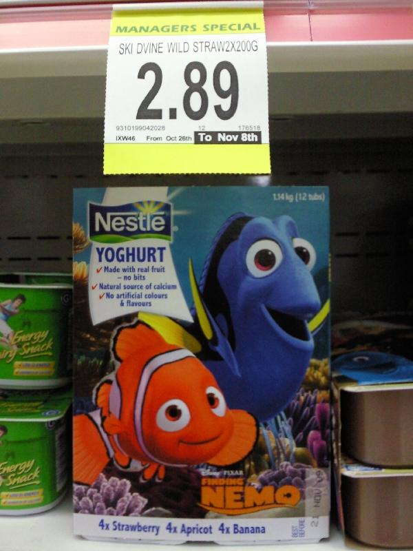 Nemo shops at IGA too, Australia