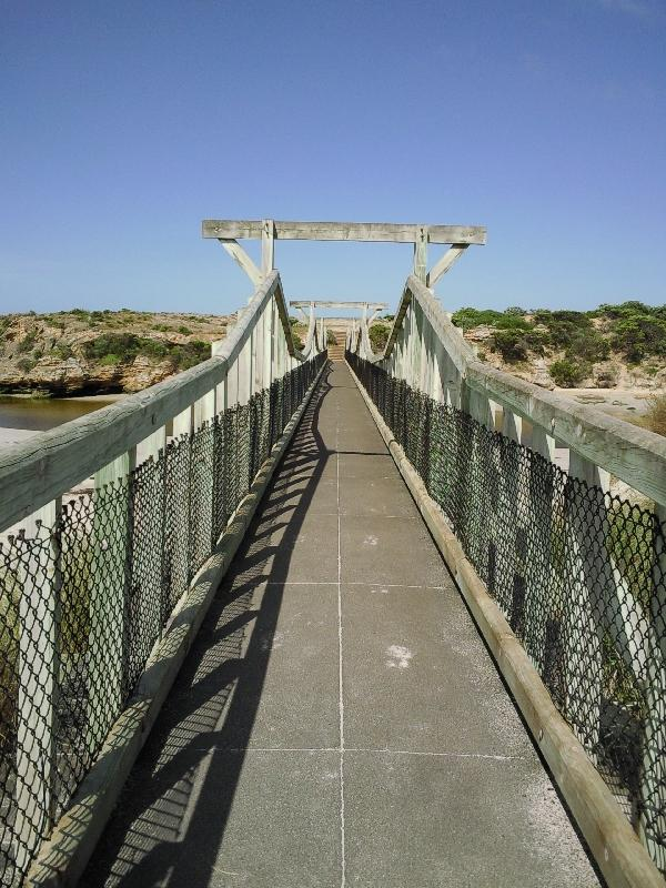 Bridge to the island, Warrnambool Australia