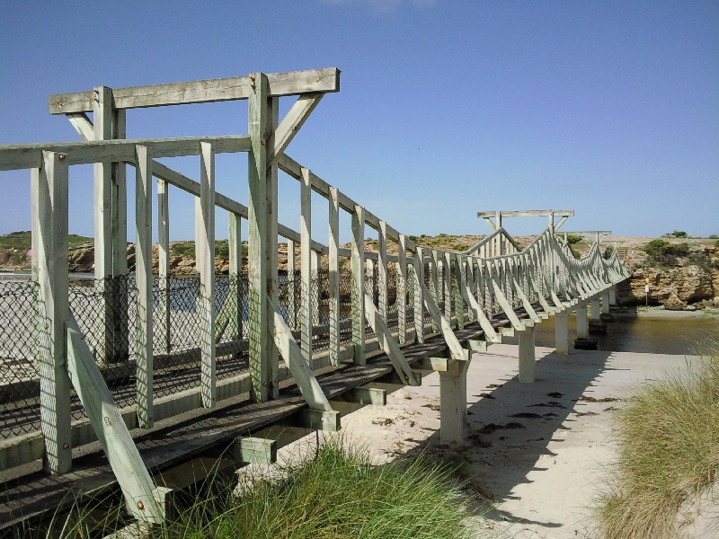 Footbridge to Middle Island, Warrnambool Australia