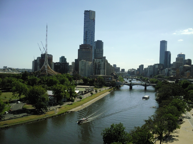 Melbourne Giant Wheel panorama, Australia