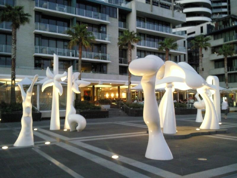 Docklands arty esplanade, Melbourne Australia