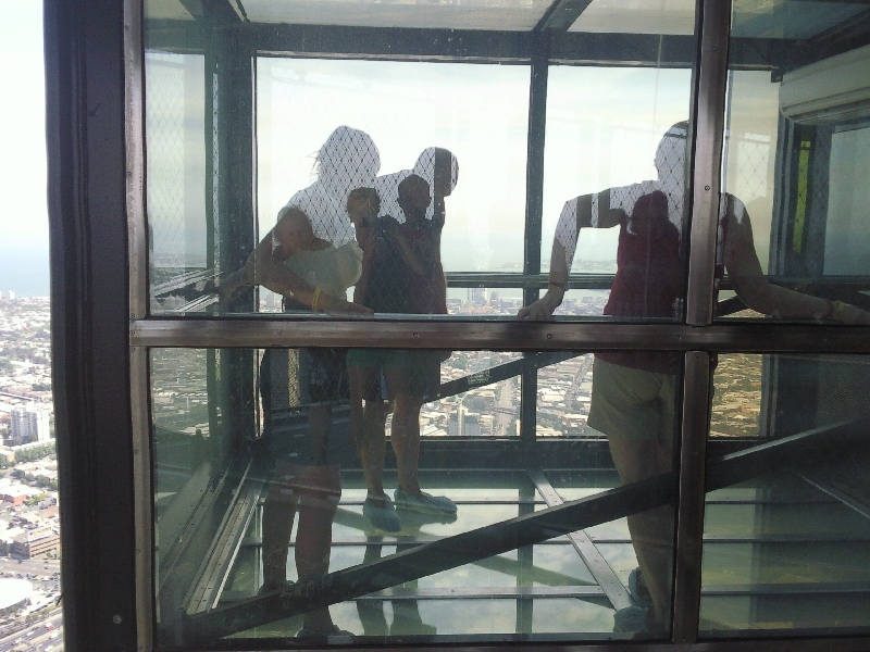 Eureka glass box from 88th floor!!, Melbourne Australia