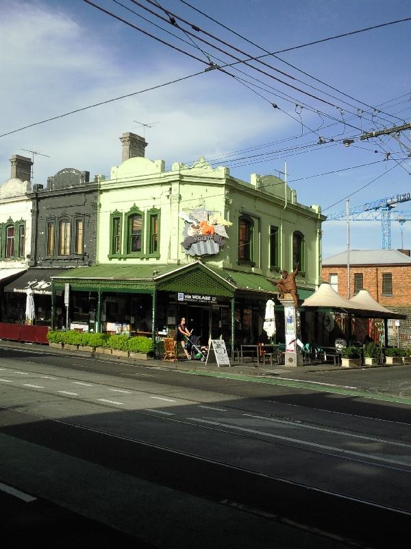 Fitzroy street buildings in Melbourne, Australia
