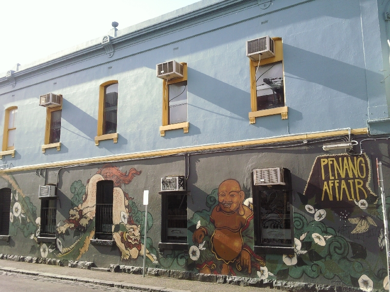 Fitzroy street shops, Australia