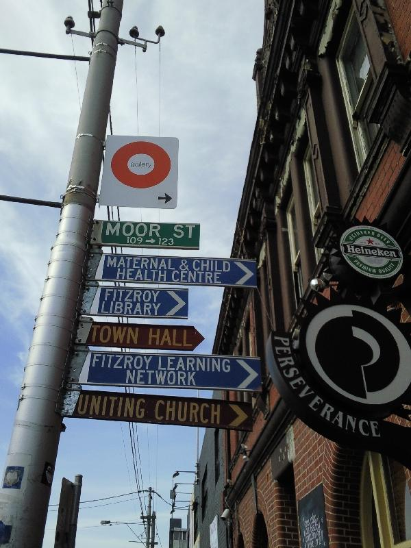 Signs Fitzroy street, Melbourne Australia