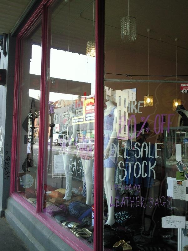Sale stock Fitzroy, Melbourne, Australia