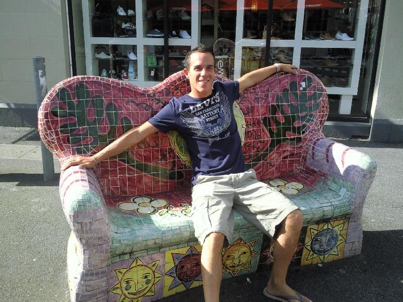 Arty bench @ Fitzroy, Australia