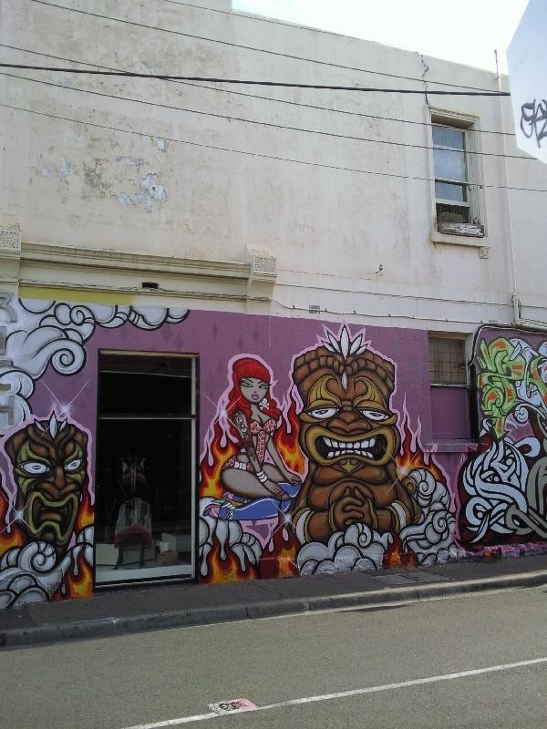 Graffiti in Fitzroy, Melbourne, Australia