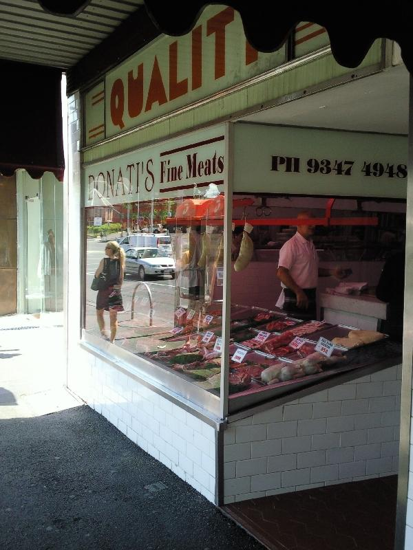 Italian butcher in Carlton, Australia