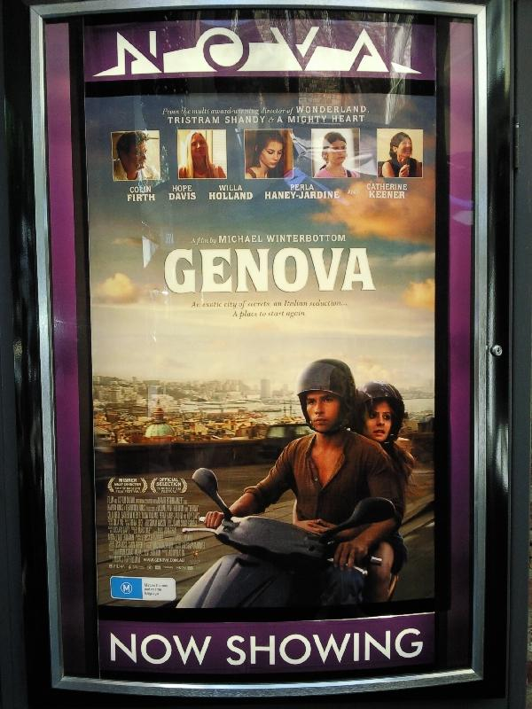Genova at Nova Cinemas in Carlton, Melbourne Australia