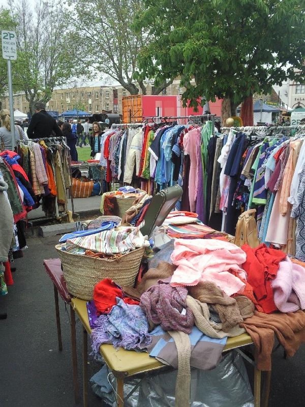 Vintage clothing @ Salamanca markets, Australia