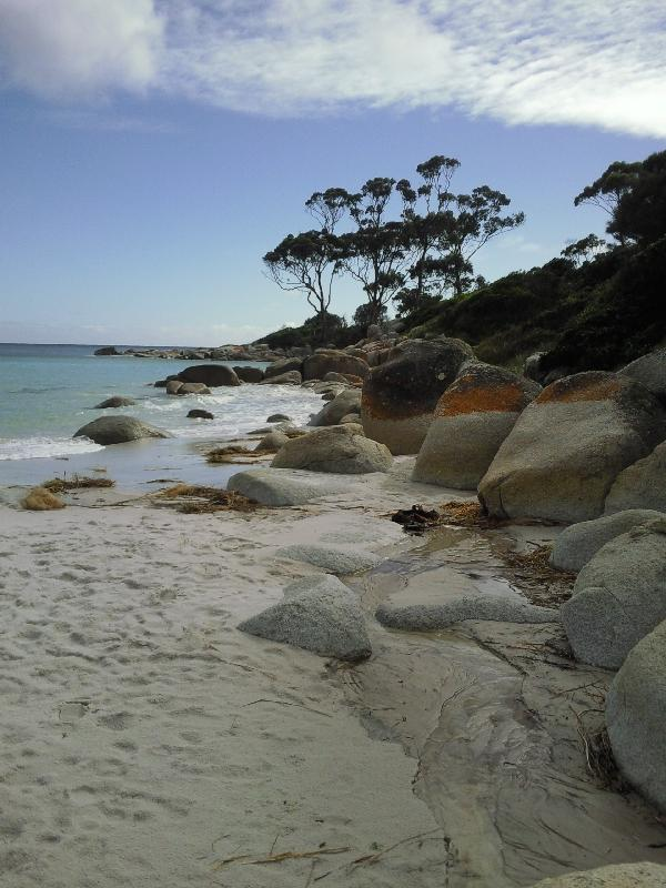 Deserted beaches at Binalong, Bay of Fires Australia