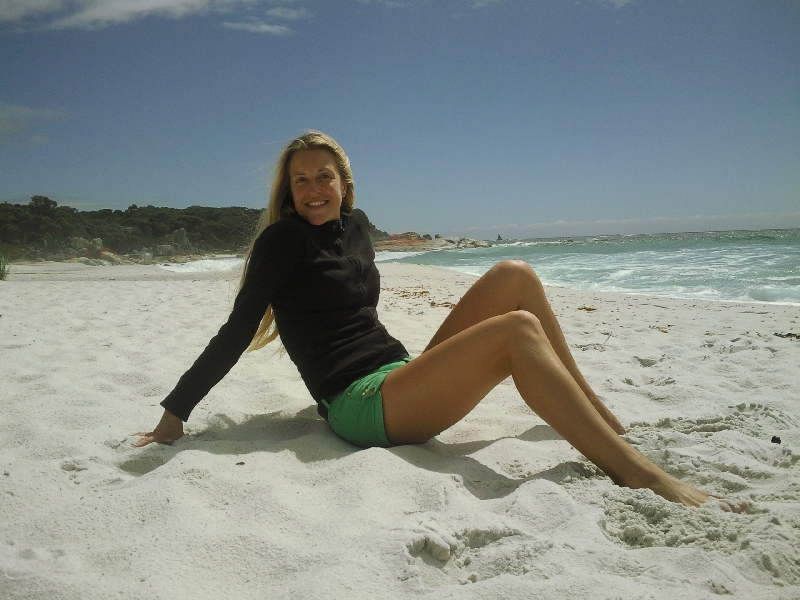 Enjoying the Tasmanian sunshine, Bay of Fires Australia