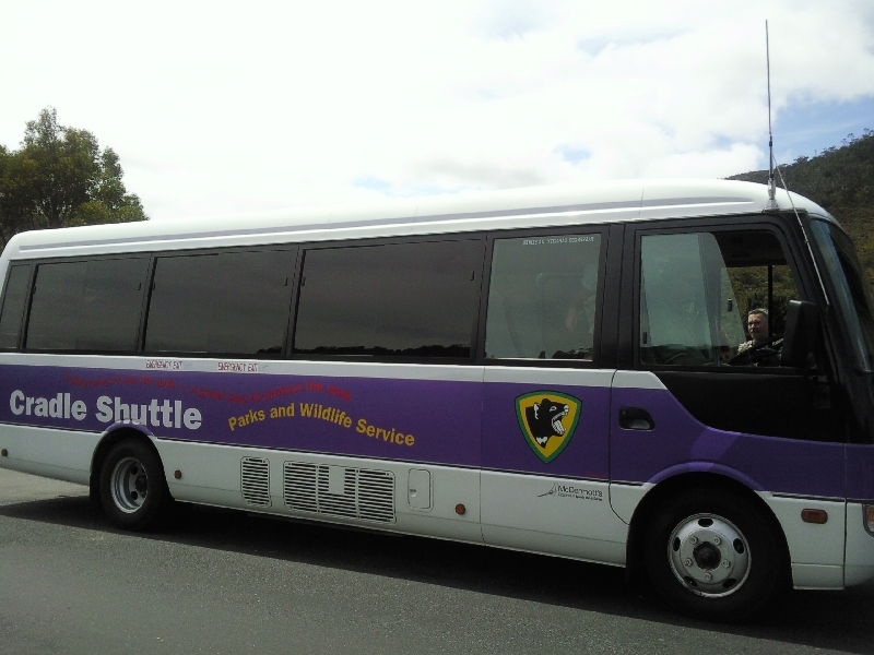 Cradle Mountain shuttle, Launceston Australia
