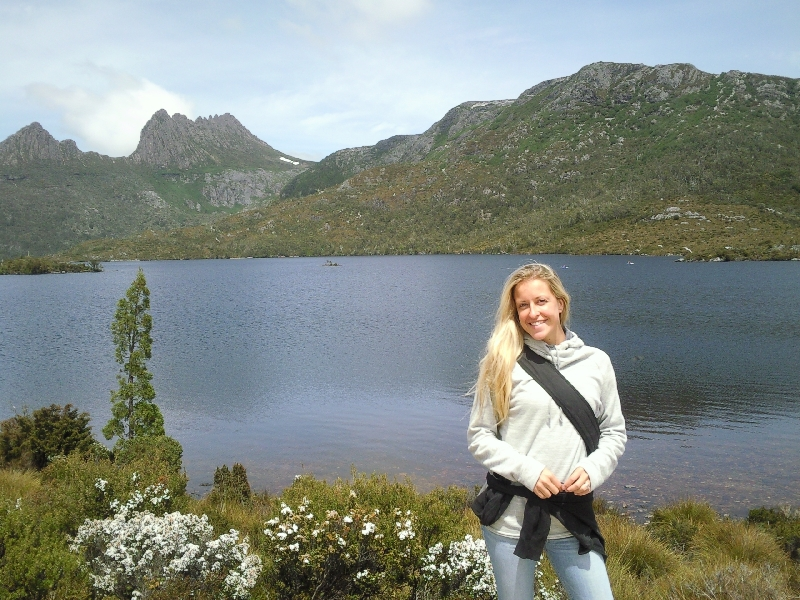 In front of Dove Lake, Australia