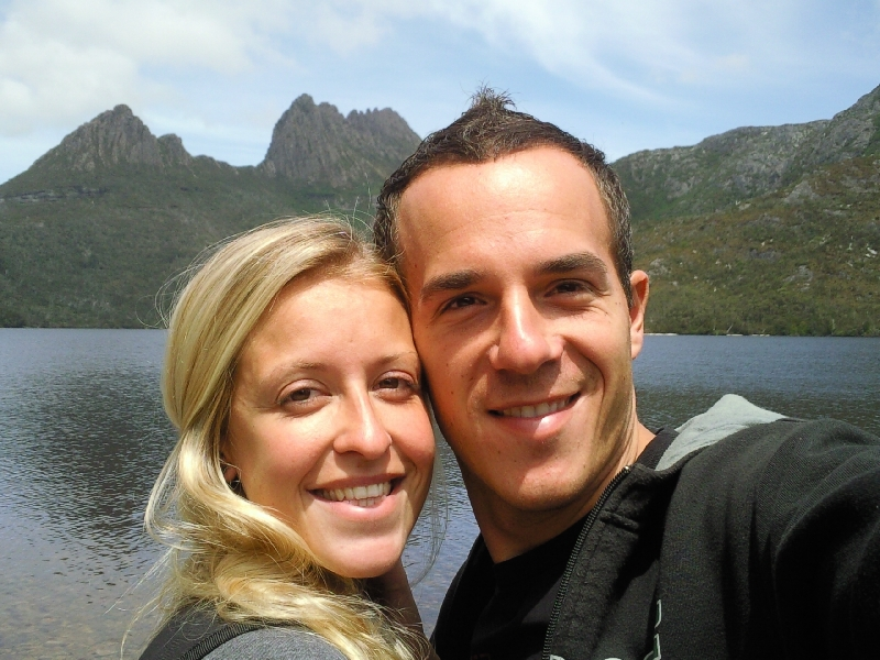 Picture at Dove Lake, Australia
