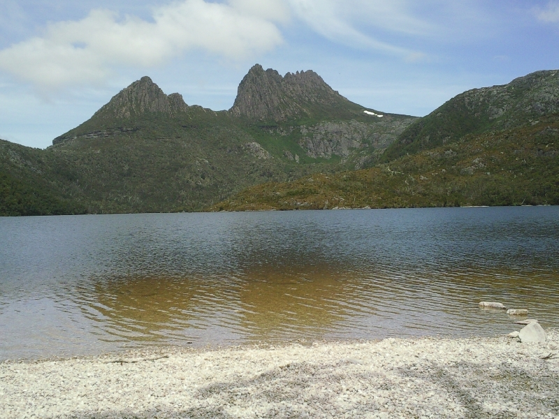 Cradle Mountain over Dove Lake, Australia