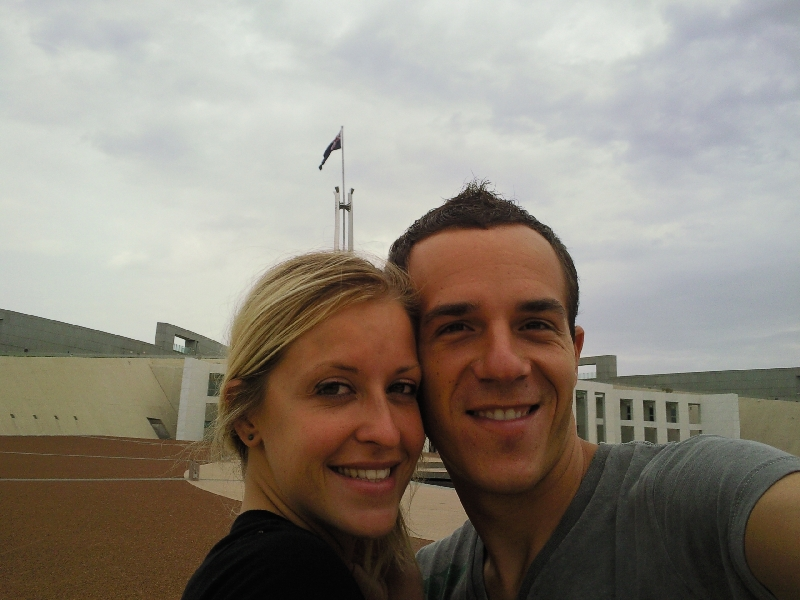 On Capital Hill in Canberra, Australia