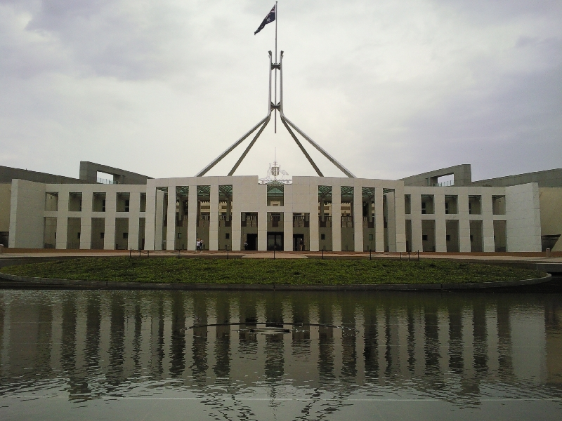 The Parliament House, Canberra, Australia
