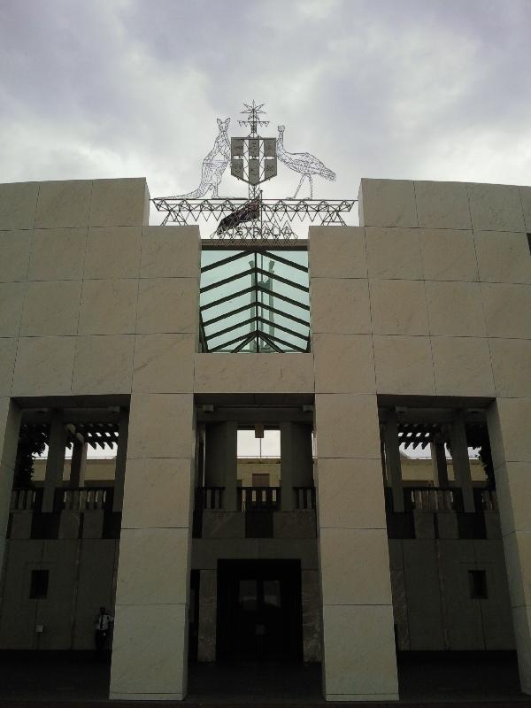Entrance Parliament House, Australia