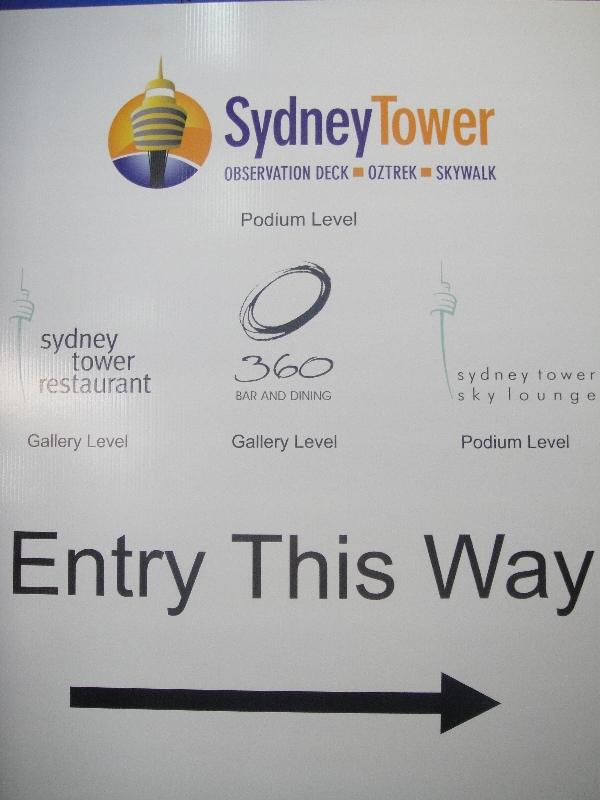 Information on the Sydney Tower Walk, Australia