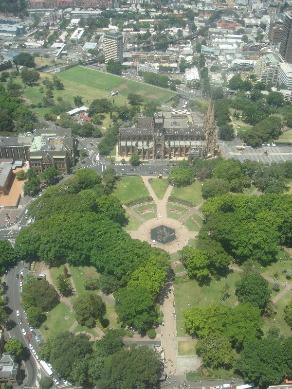 Sydney Hyde Park panorama, Australia