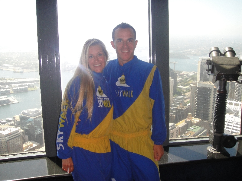 Ready to do the Sydney Tower Sky Walk, Australia