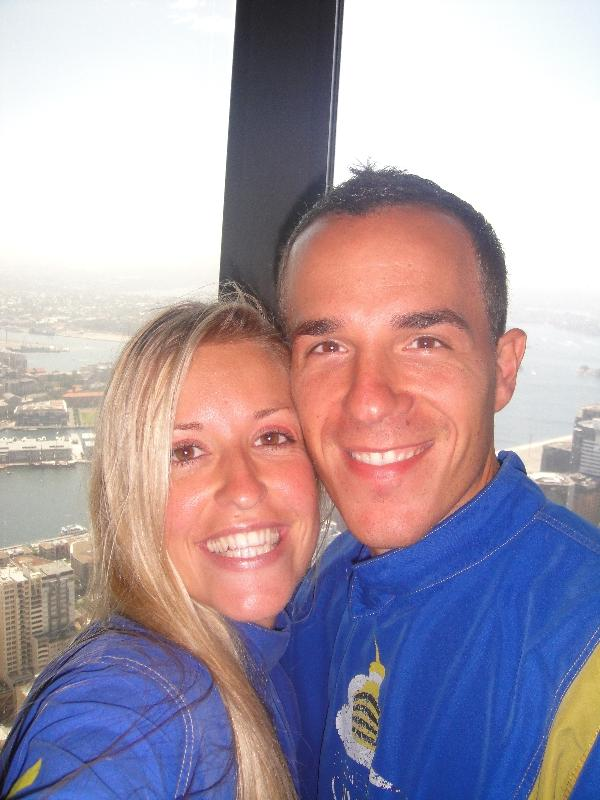 Geared up for the Sydney Tower Walk, Australia