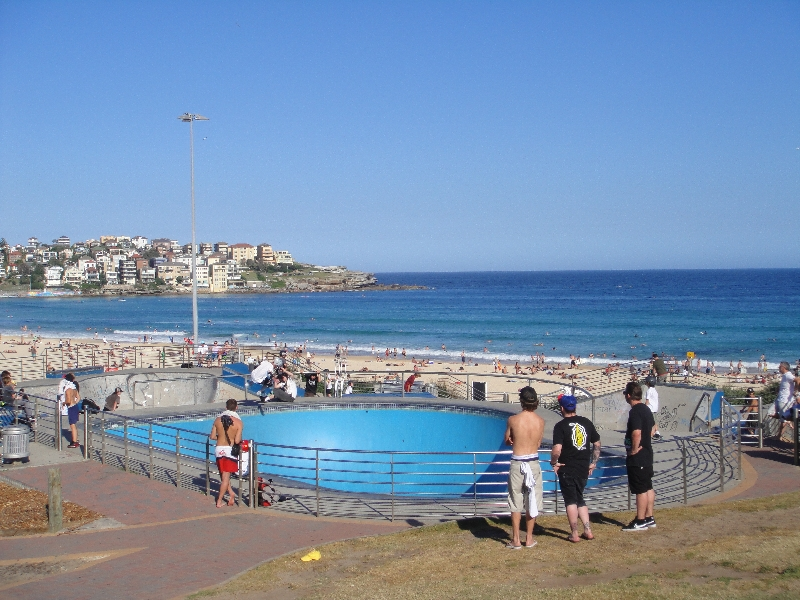 Skating professionals in Bondi, Australia