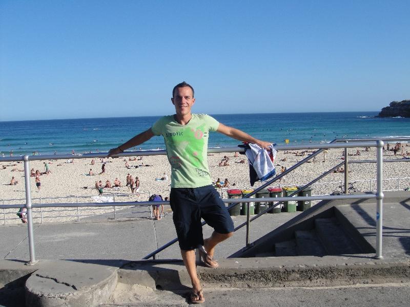 Bondi beach esplanade, Sydney Australia