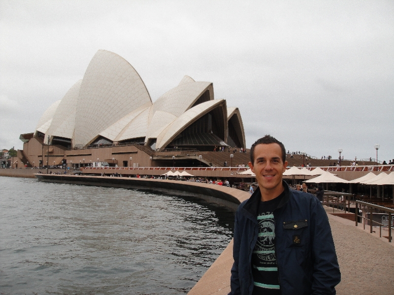 In front of the Opera House, Australia