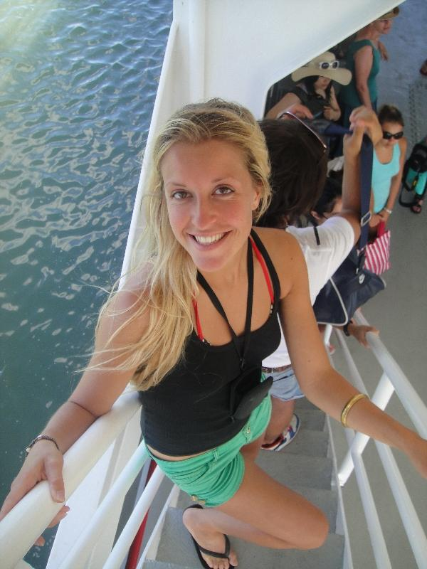 Getting off the ferry @ Fraser Island, Australia