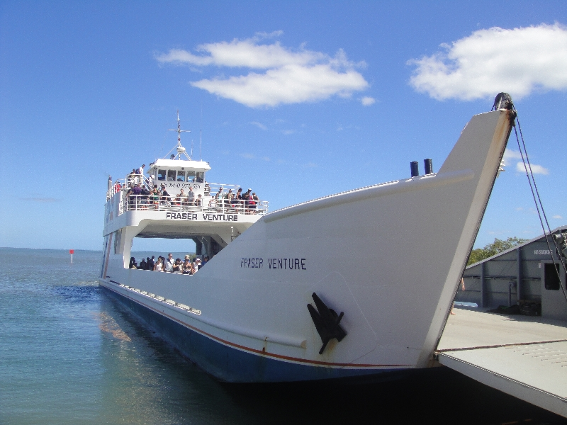 The Ferry to Fraser Island, Australia